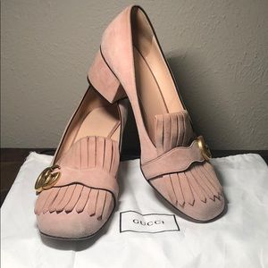 Gucci Marmont  suede heels 40